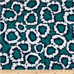 Bloom Stretch Cotton Sateen Splatter White/Teal
