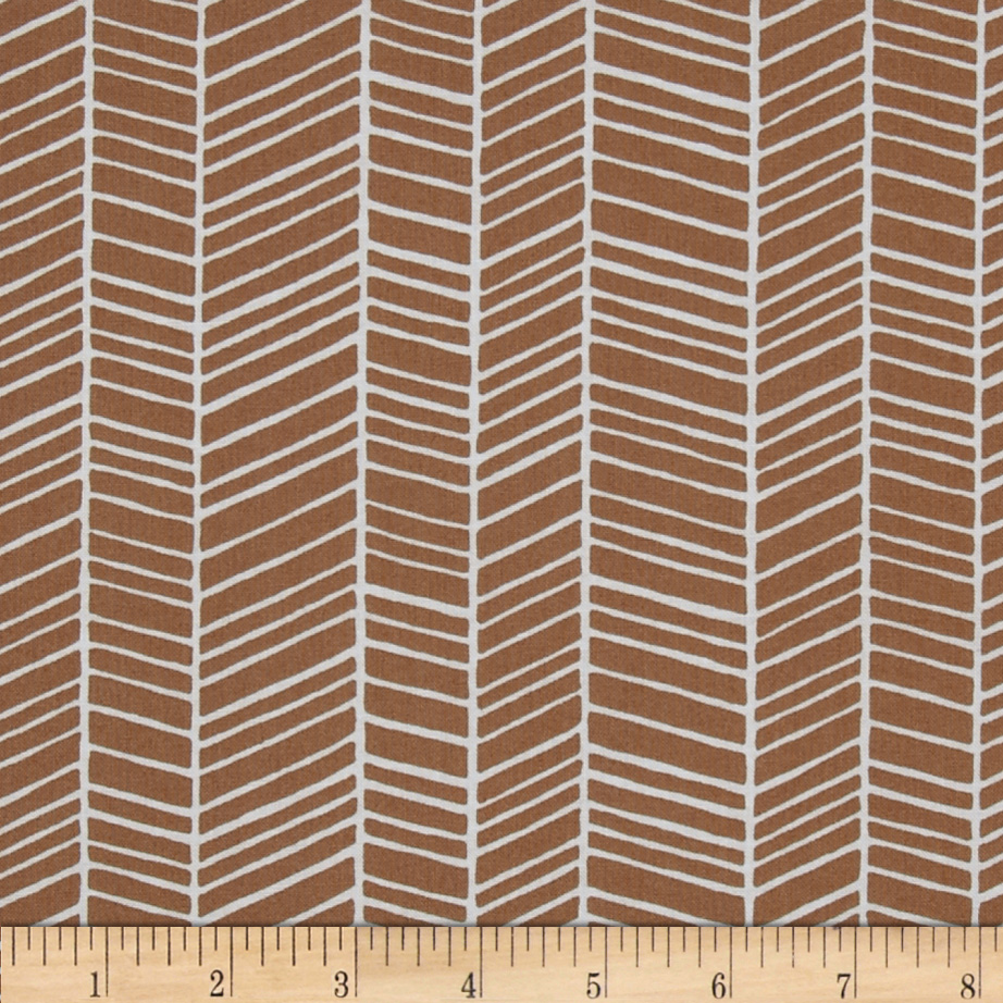 Joel Dewberry True Colors Herringbone Maple Fabric