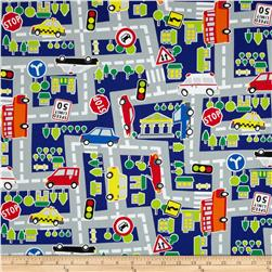 Kokka Transportation Road Map Blue