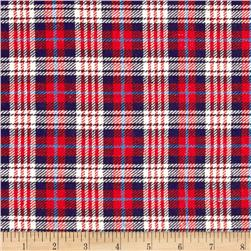 Yarn Dyed Flannel Plaid Blue/Ivory/Red