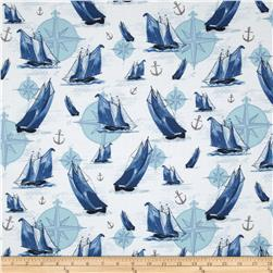 Sail Away Repeating Stripe Blue