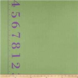 Kokka Canvas Ruler Border Print Green