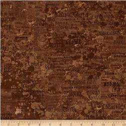 Coffee House Tonal Words Light Brown