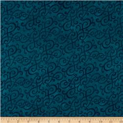 Flannel Scroll Teal