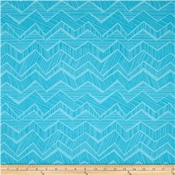 Timeless Treasures Apple of My Eye Matilde Abstract Chevron Turquoise