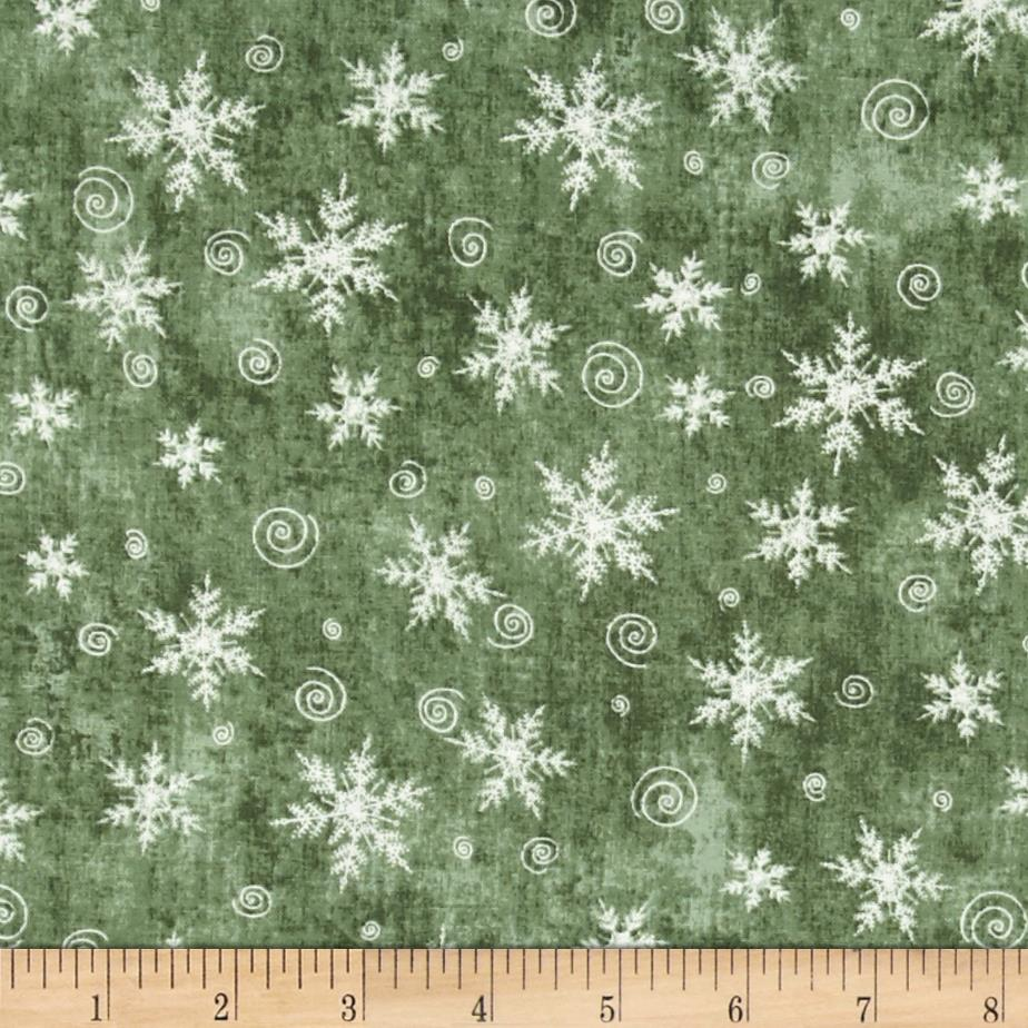 Christmas Whimsy Snowflakes Grey