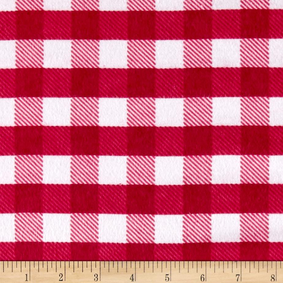 Flannel Gingham Plaid Pink