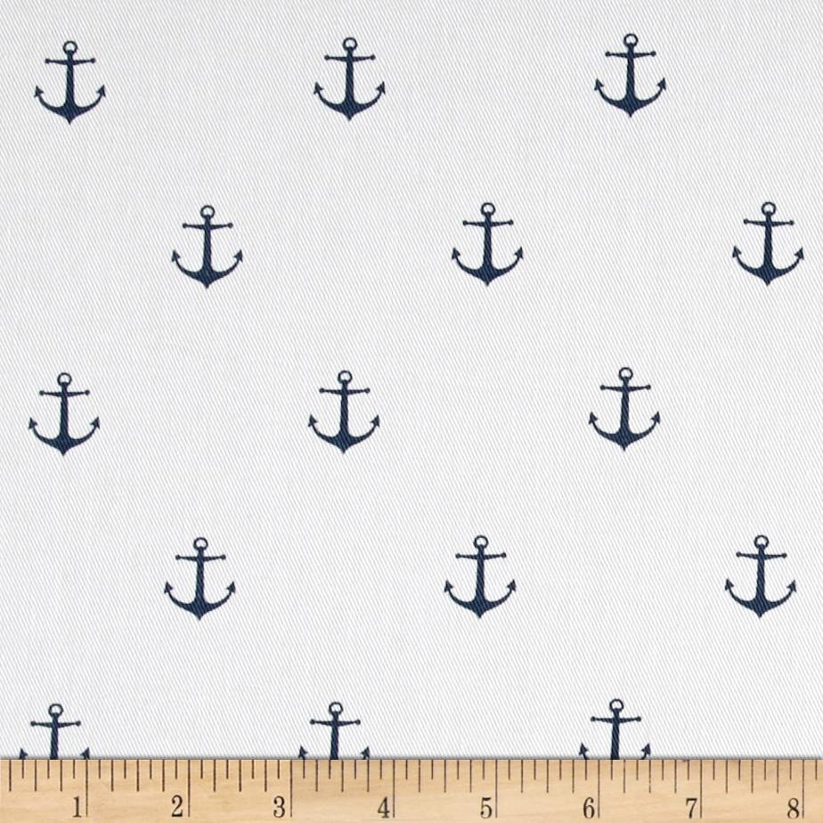 Premier Prints Mini Anchor Twill White/Premier Navy