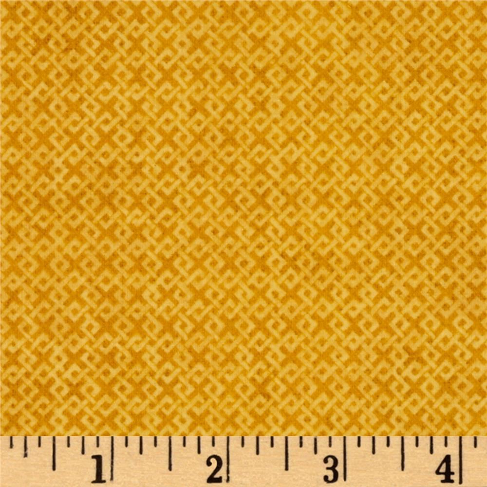 Criss Cross Flannel Dark Yellow Fabric By The Yard