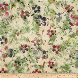 Indian Batiks Dogwood Rose/Green
