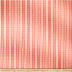 Robert Allen Sunbrella Picnic Patches Stripe Coral Reef