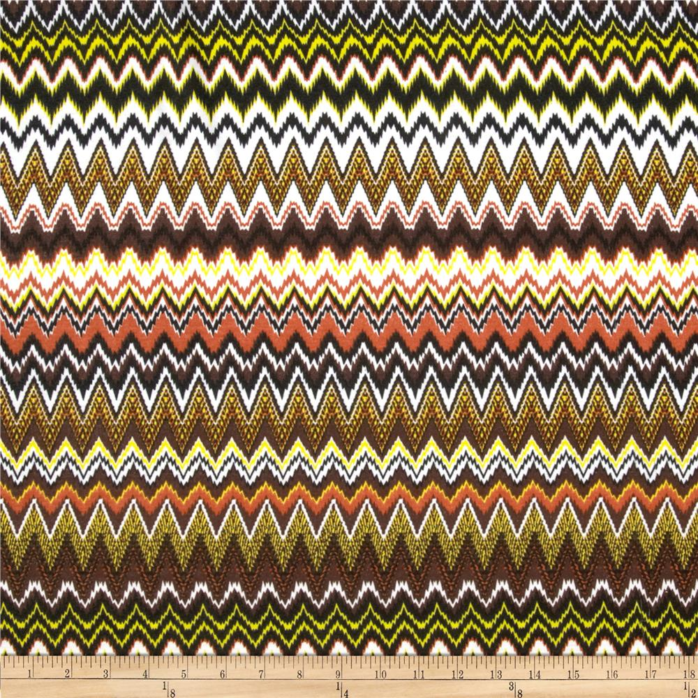 Juliette Jersey Knit Chevron Brown/Yellow