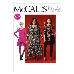 McCall's Misses'/Women's Tunics, Dress and Leggings Pattern M7028 Size B50