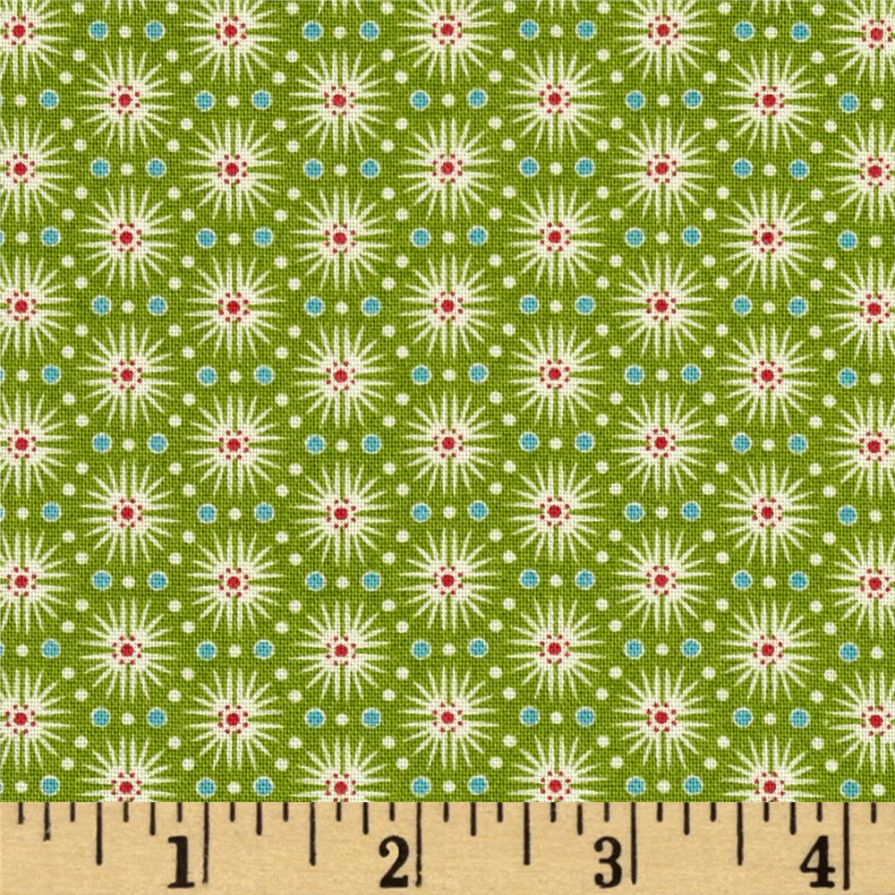 Candy Cane Burst Stripe Green