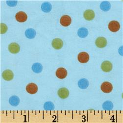 Aunt Polly's Flannel Medium Polka Dot Blue/Multi