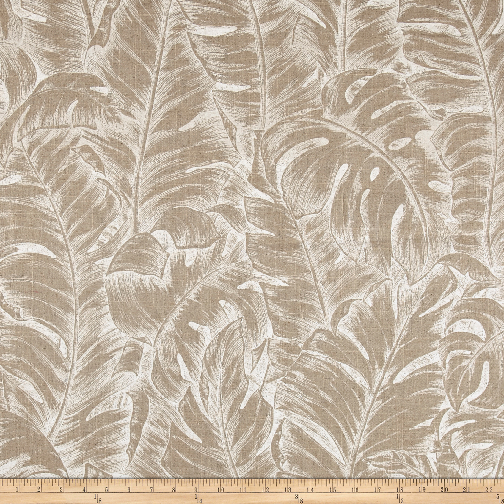 Tommy Bahama Jungle Love Linen Circa Parchment Fabric by Waverly in USA