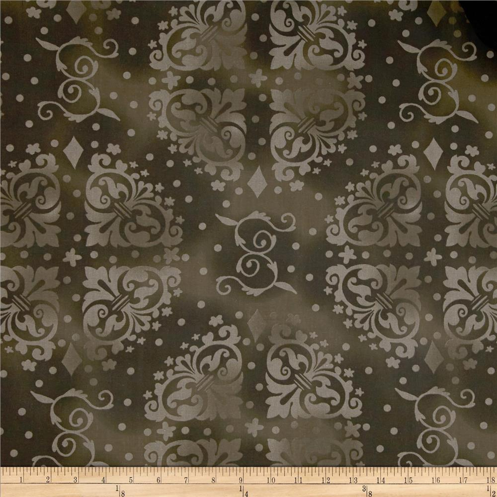 108'' Wide Quilt Backing Medallion Tonal Dark Brown