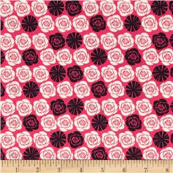 Birds of A Feather Roses Pink Fabric