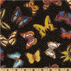 Tossed Butterflies Multi/Black