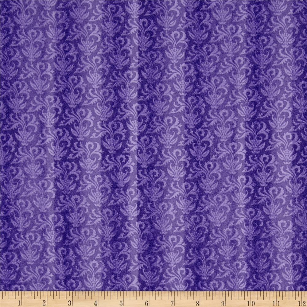 Windsor Woods Damask Strip Lavender