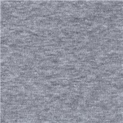 Cotton Baby Rib Knit Heather Grey Fabric