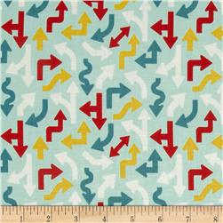 Riley Blake Cruiser Blvd Cruiser Arrows Blue Fabric