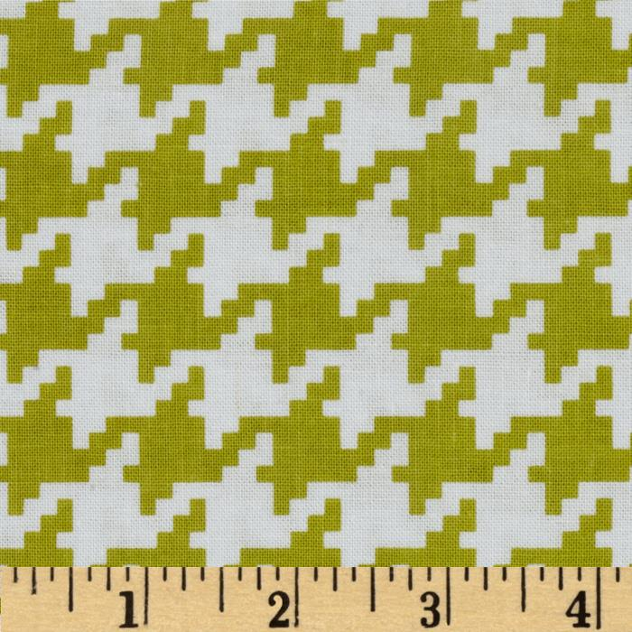 Michael Miller Everyday Houndstooth Cedar