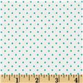 Riley Blake Swiss Dots White/Aqua