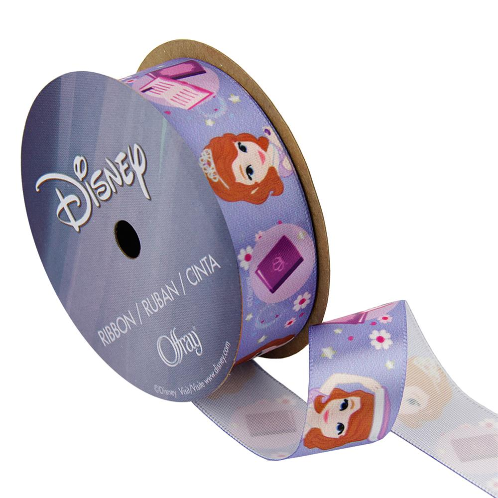"7/8"" Sofia The First Ribbon Books Purple"