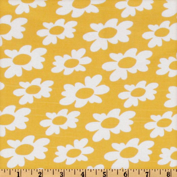 Premier Prints Wildflowers Slub White/Yellow