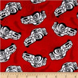 Flannel Race Car Red