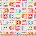Timeless Treasures Enchanted Forest Owls Pink