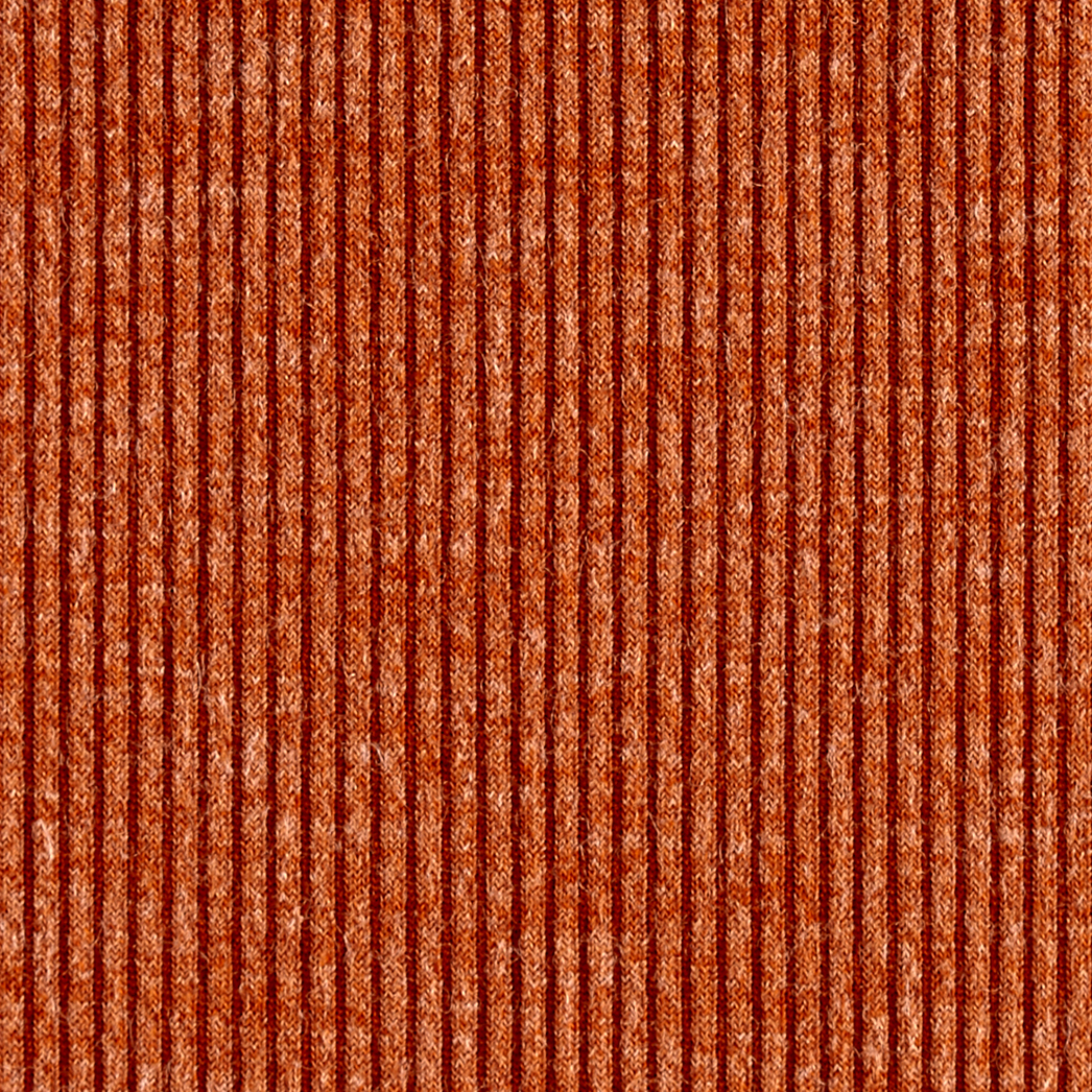 Telio Melange Rib Knit Burnt Orange Fabric 0455337