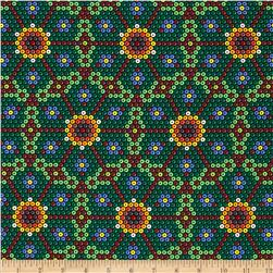 Michael Miller Beadwork Peyote Flower Multi