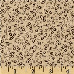 Judie's 25th Anniversary Small Floral Vine Tan/Brown