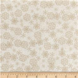 Woodland Retreat Flannel Snowflake Cream