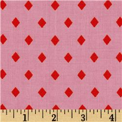 Cotton & Steel Frock Rayon Poplin Pink Diamonds