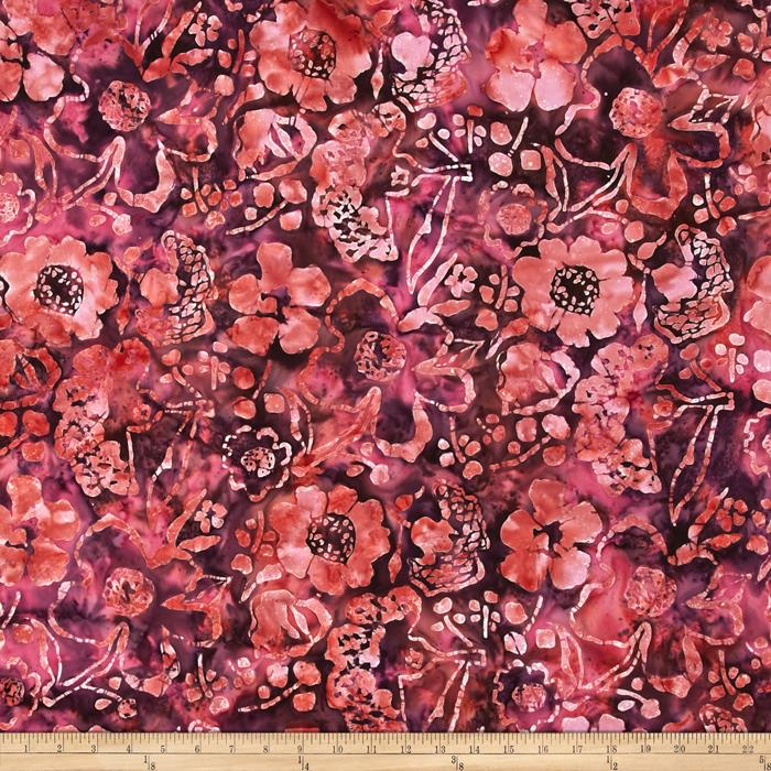 Bali Batiks Handpaints Large Floral Sunset