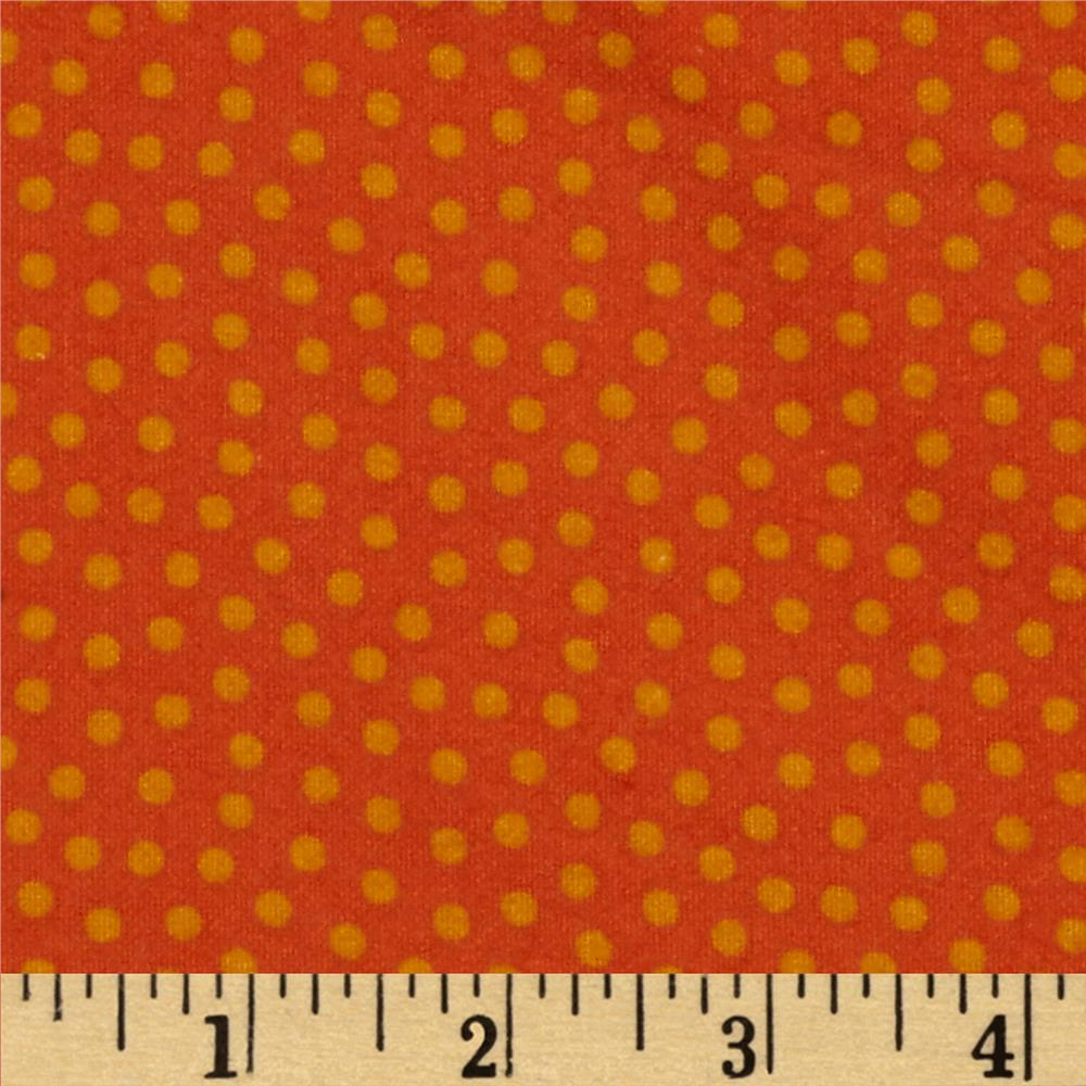Lumberjack Flannel Dots Orange