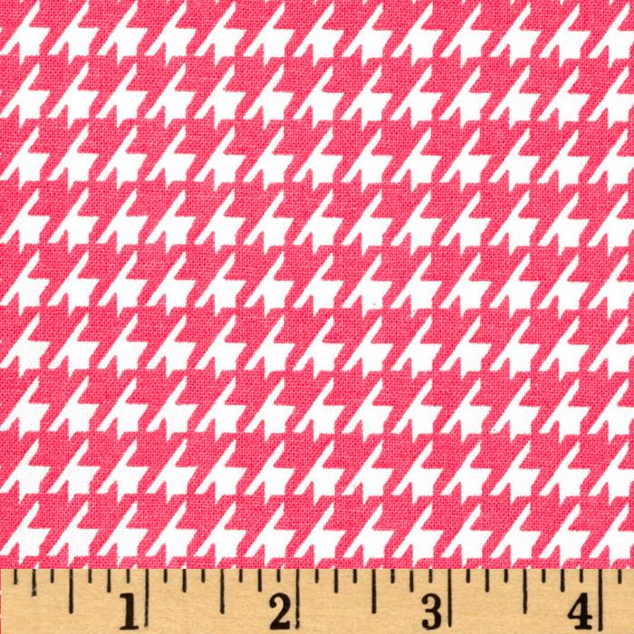 Dots and More Houndstooth Pink/White