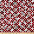 Kaufman Winter's Grandeur 4 Metallics Diamond Grid Winter