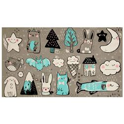 "Cotton + Steel Sleep Tight Toys 23"" Panel Grey"