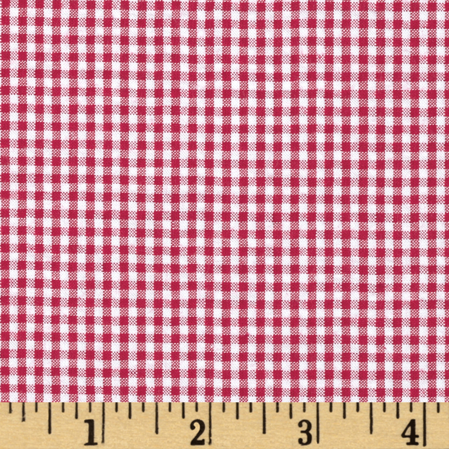 Imperial 60'' Seersucker Gingham Red Fabric by Spechler-Vogel in USA