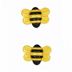 Novelty Button 1'' Big Bumble Bee Yellow