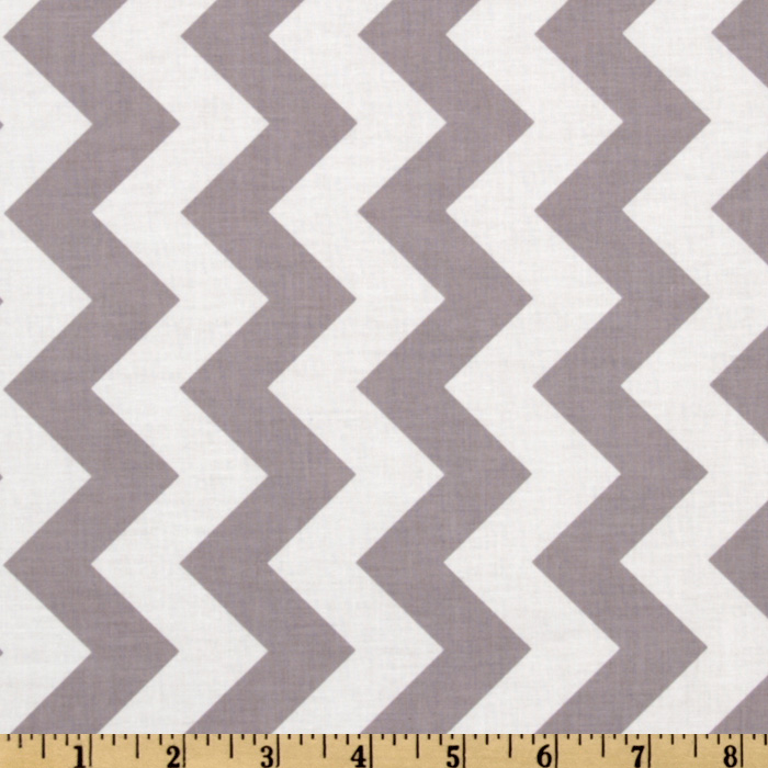 Riley Blake Chevron Medium Gray Fabric