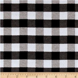 Flannel Gingham Plaid Black