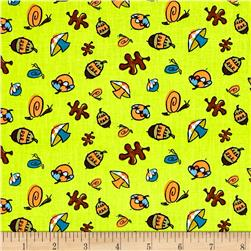 Frolicking Forest Forest Floor Green Fabric