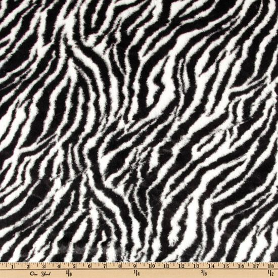 Minky Cuddle Plush Zebra Black/White