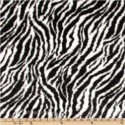 Minky Cuddle Plush Zebra Black/White Fabric