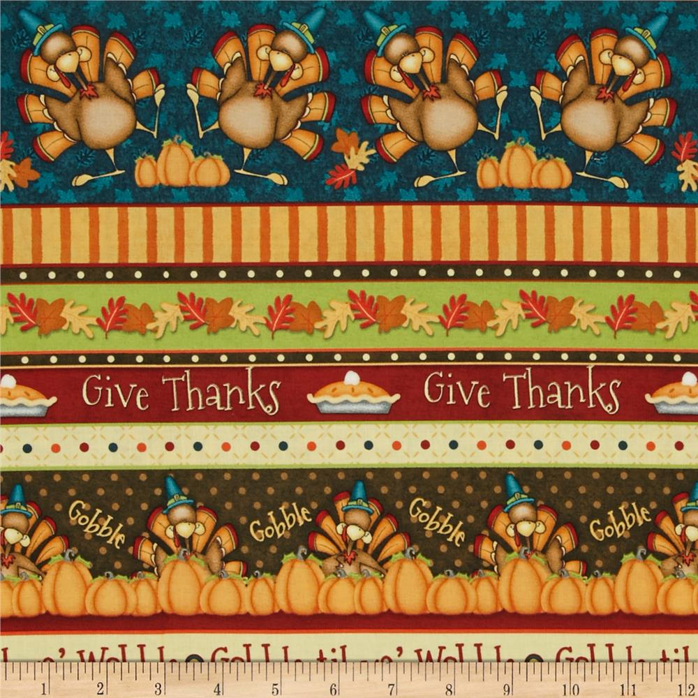 Give Thanks Novelty Stripe Multi